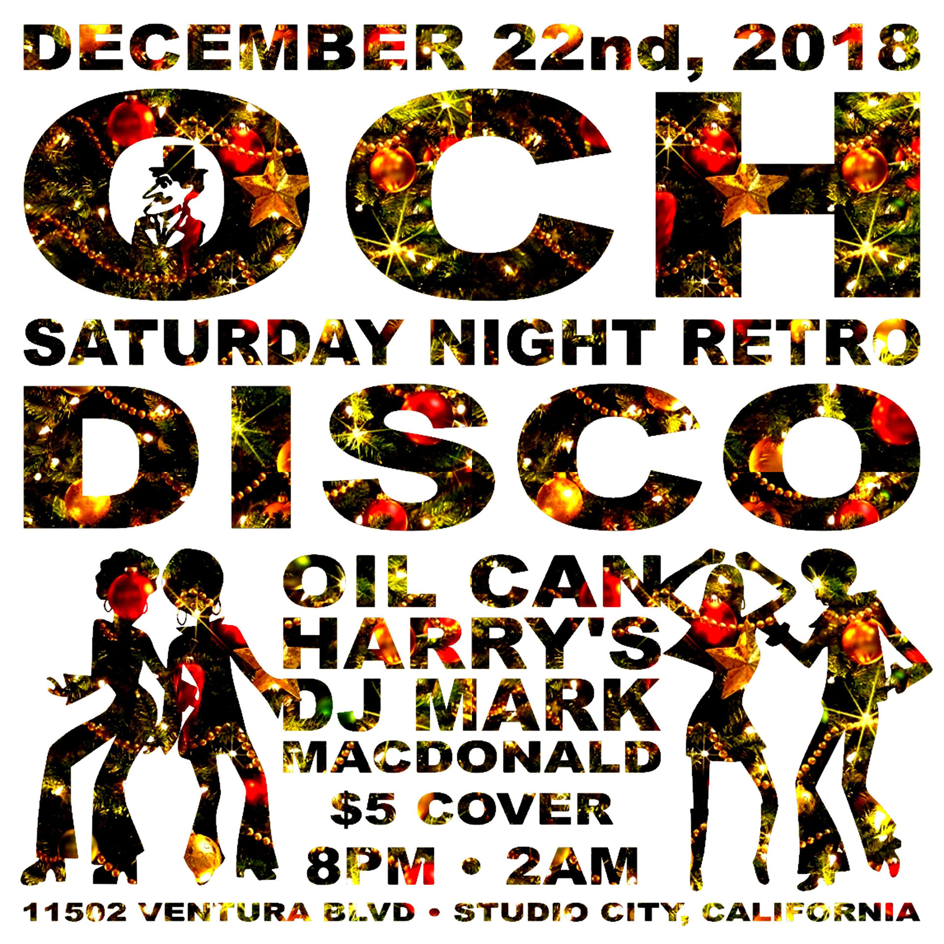 Oil Can Harry's Hosts DJ MARK MACDONALD from Las Vegas for RETRO DISCO: Saturday, December 22, 2018! 8:00 PM to 2:00 AM! $5.00 Cover.
