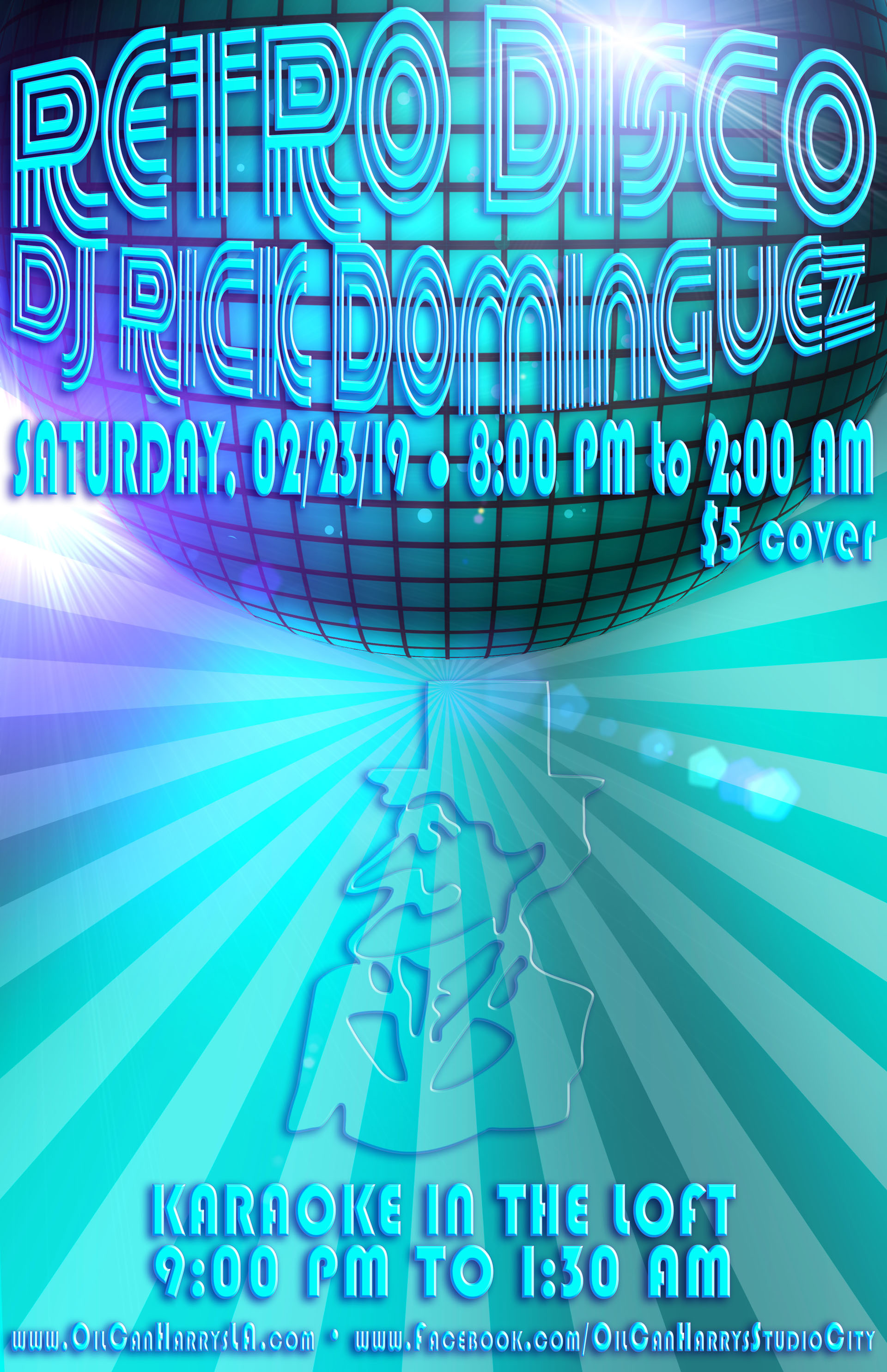 Oil Can Harry's Hosts DJ RICK DOMINGUEZ for RETRO DISCO: Saturday, February 23, 2019! 8:00 PM to 2:00 AM! $5.00 Cover.