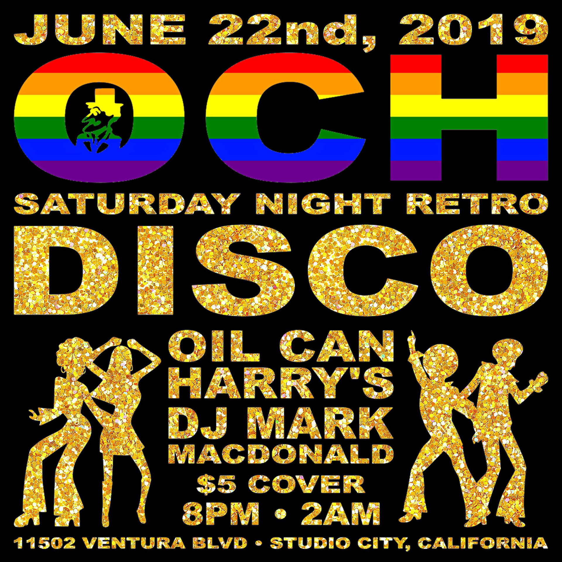 Oil Can Harry's Hosts DJ MARK MACDONALD from Las Vegas for RETRO DISCO: Saturday, June 22, 2019! 8:00 PM to 2:00 AM! $5.00 Cover.