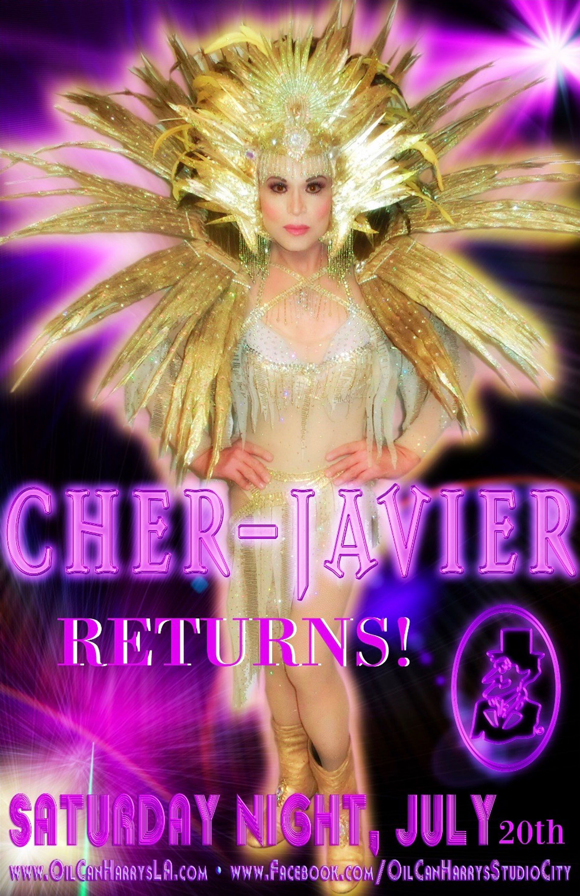 CHER-JAVIER Returns to OIL CAN HARRY'S: Saturday Night, July 20, 2019!
