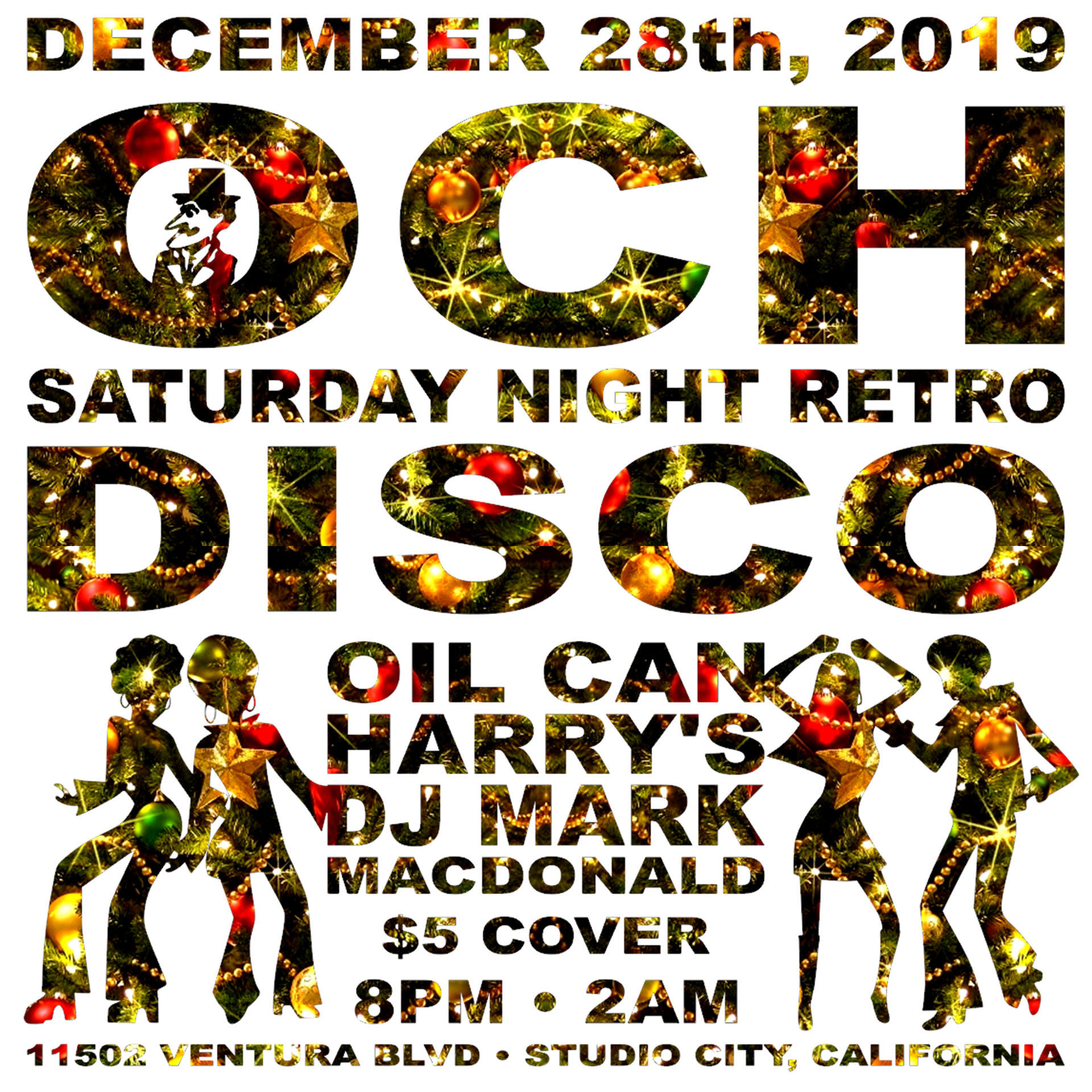 Oil Can Harry's Hosts DJ MARK MACDONALD from Las Vegas for RETRO DISCO: Saturday, December 28, 2019! 8:00 PM to 2:00 AM! $5.00 Cover.